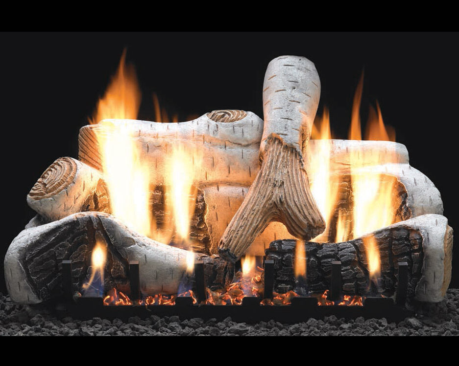 Birch Vent Free Gas Log Set Optional Remote 18 24 30 Ebay