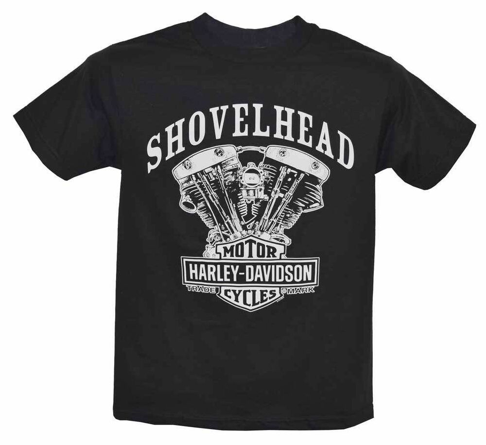harley davidson men 39 s s s t shirt shovelhead engine. Black Bedroom Furniture Sets. Home Design Ideas