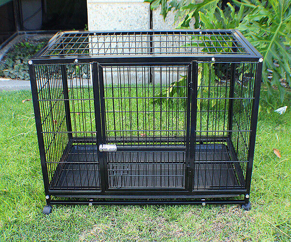 New mtn xl 48inch heavy duty dog pet cage crate kennel for Xl indoor dog kennel