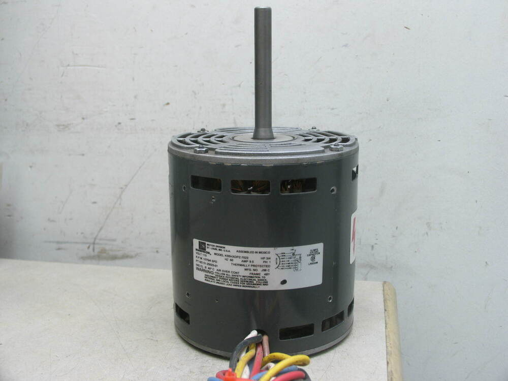 furnace blower motor emerson k55hxdpz 7023 furnace blower motor 3 4hp 115v 1075rpm 4spd 1ph 9 5a