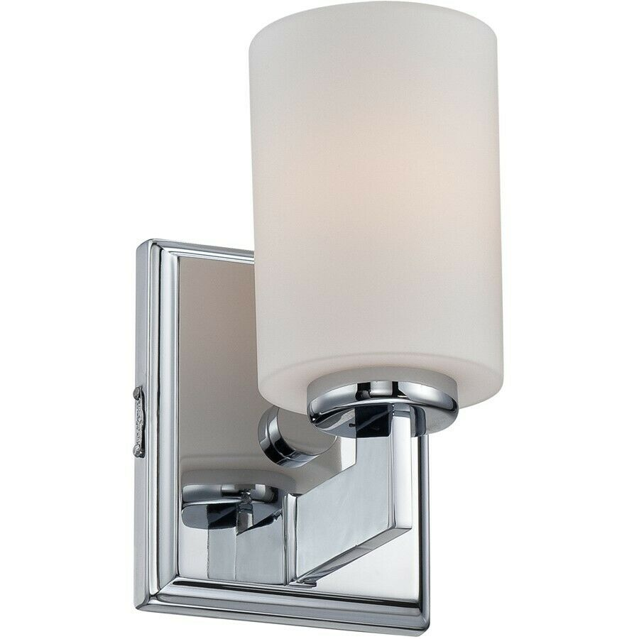 chrome bathroom lighting fixtures quoizel 1 light bath fixture in polished chrome 17743