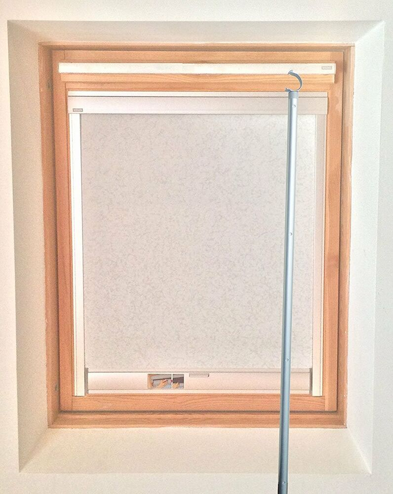 1 8m telescopic window rod pole designed for velux sky for Velux window shades