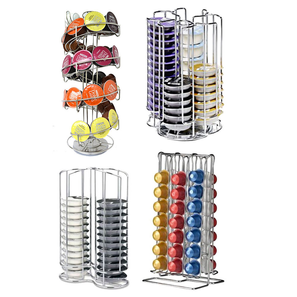 nespresso tassimo dolce gusto coffee pod capsule holder storage stand tower ebay. Black Bedroom Furniture Sets. Home Design Ideas