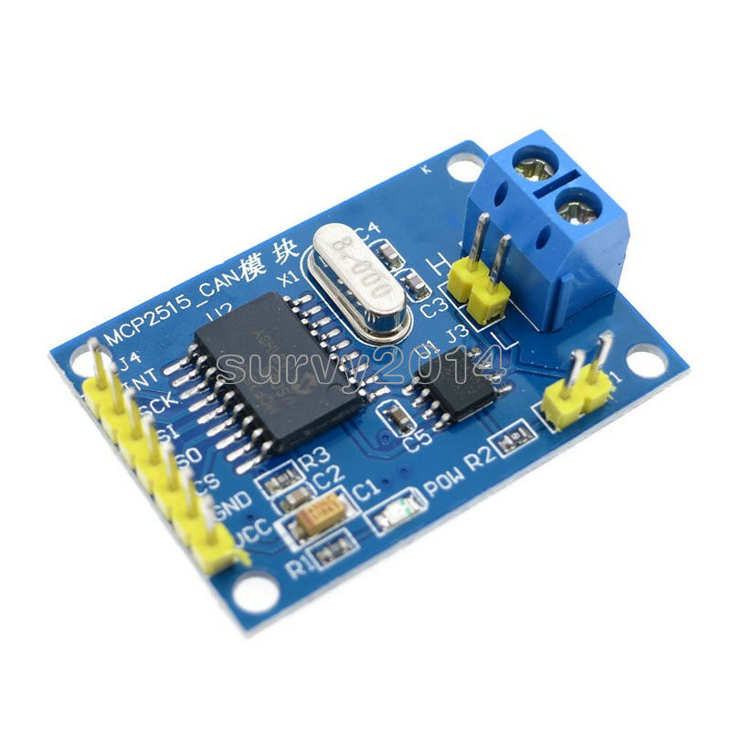 Mcp can bus module tja receiver spi for