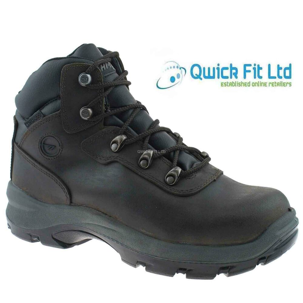 mens hi tec leather composite toe cap waterproof hiking