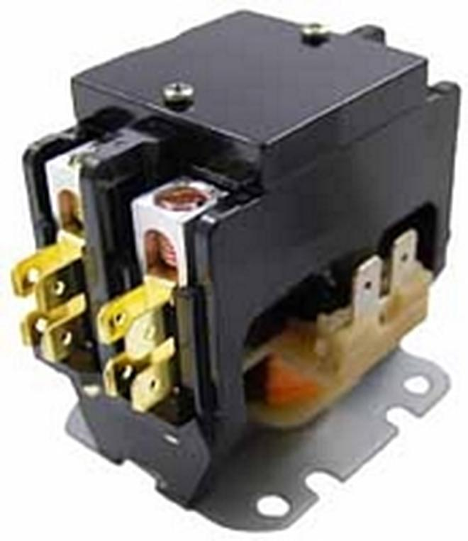 new!! packard c240a contactor 2 pole 40 amps 24 coil ... 110 volt single pole contactor wiring diagram