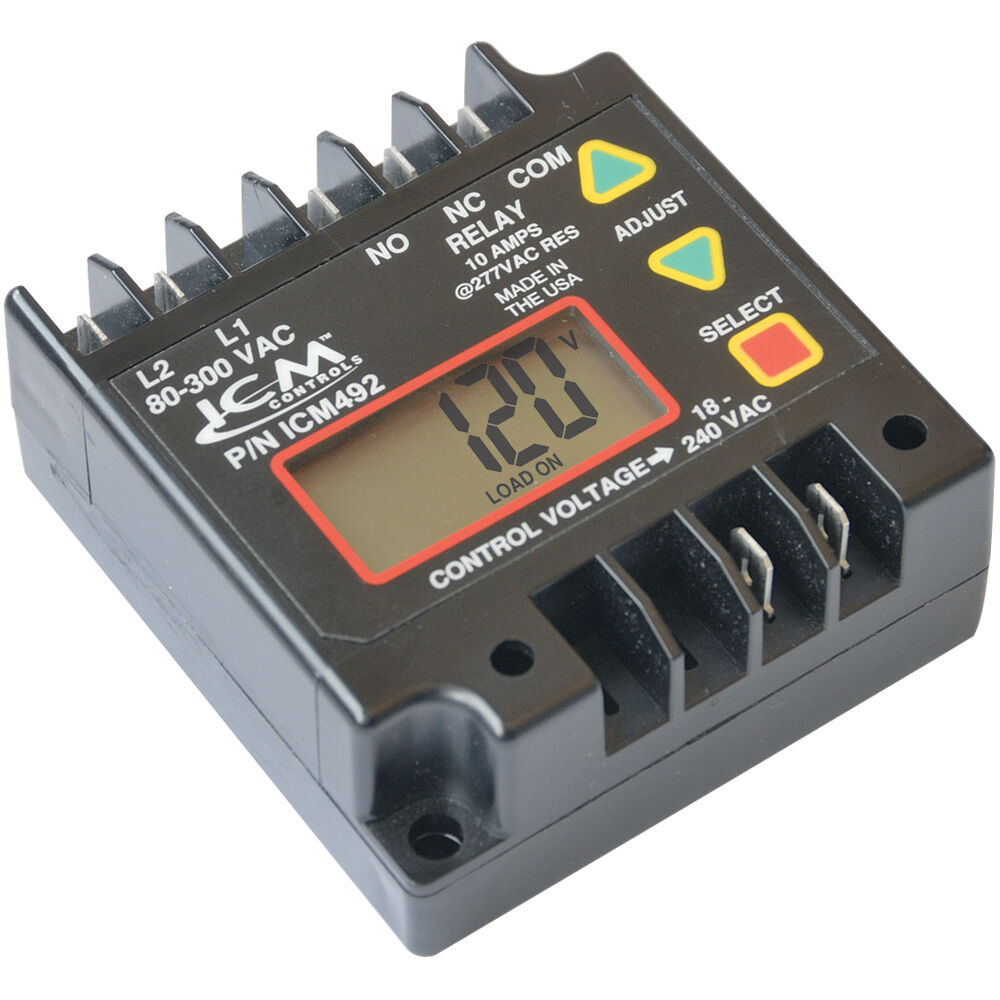Single Phase Line : Icm single phase line voltage monitor volts