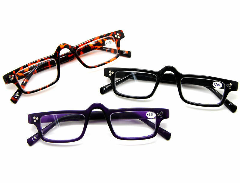 small square frame hippies reading glasses readers