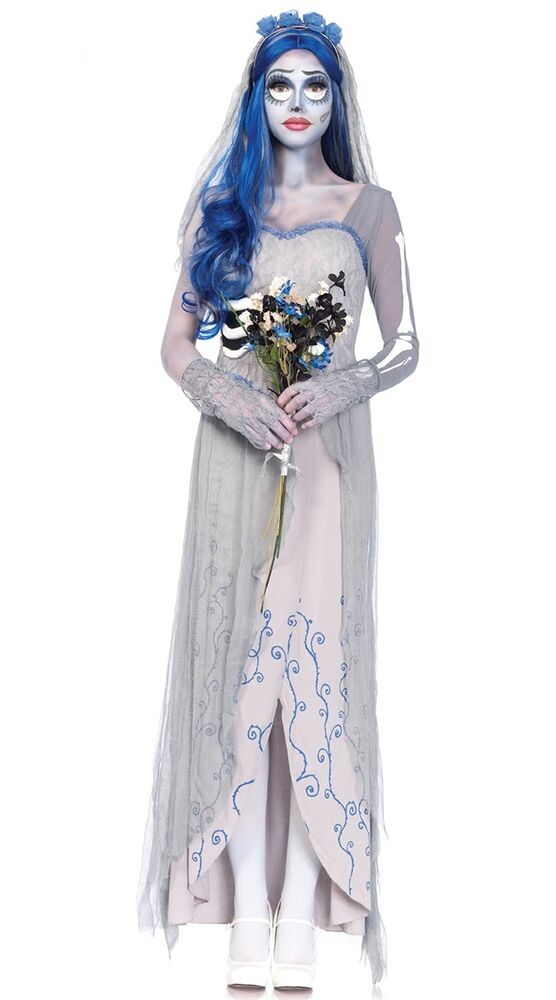 Halloween costume undead corpse bride womens dress scary for Corpse bride wedding dress for sale