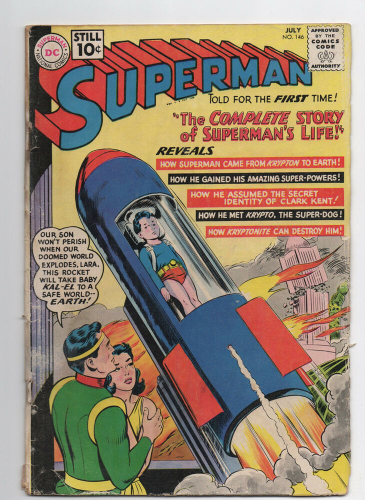 dc comics superman 146 1961 silver age key life story