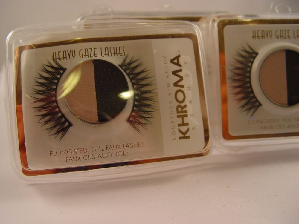 Khroma Beauty Eyelashes Elongated Full Lashes Heavy Gaze Kardashian