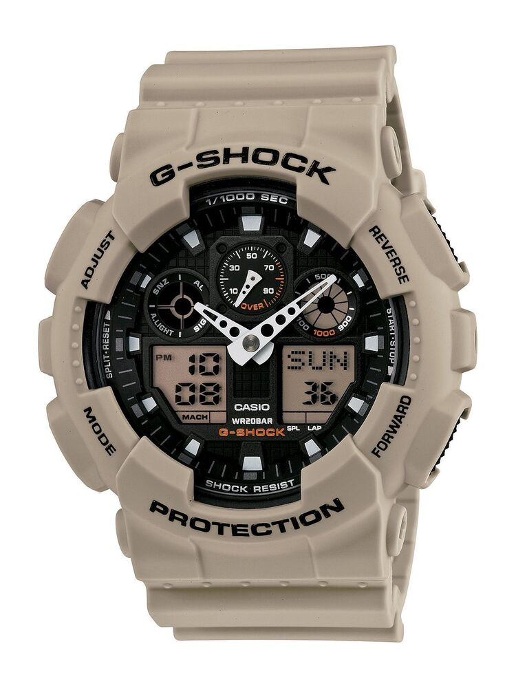 casio g shock military grey beige analog ditigal sport wrist watch ga100sd 8a 79767913960 ebay