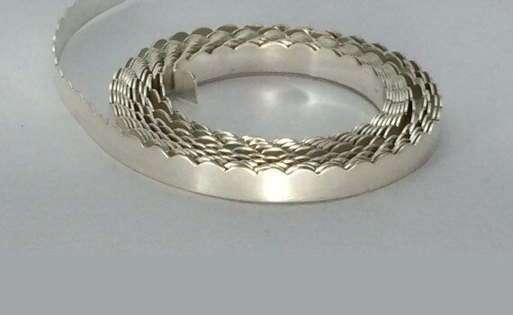 5 feet 999 fine silver 1 8 scalloped bazel jewelry wire for Fine silver 999 jewelry