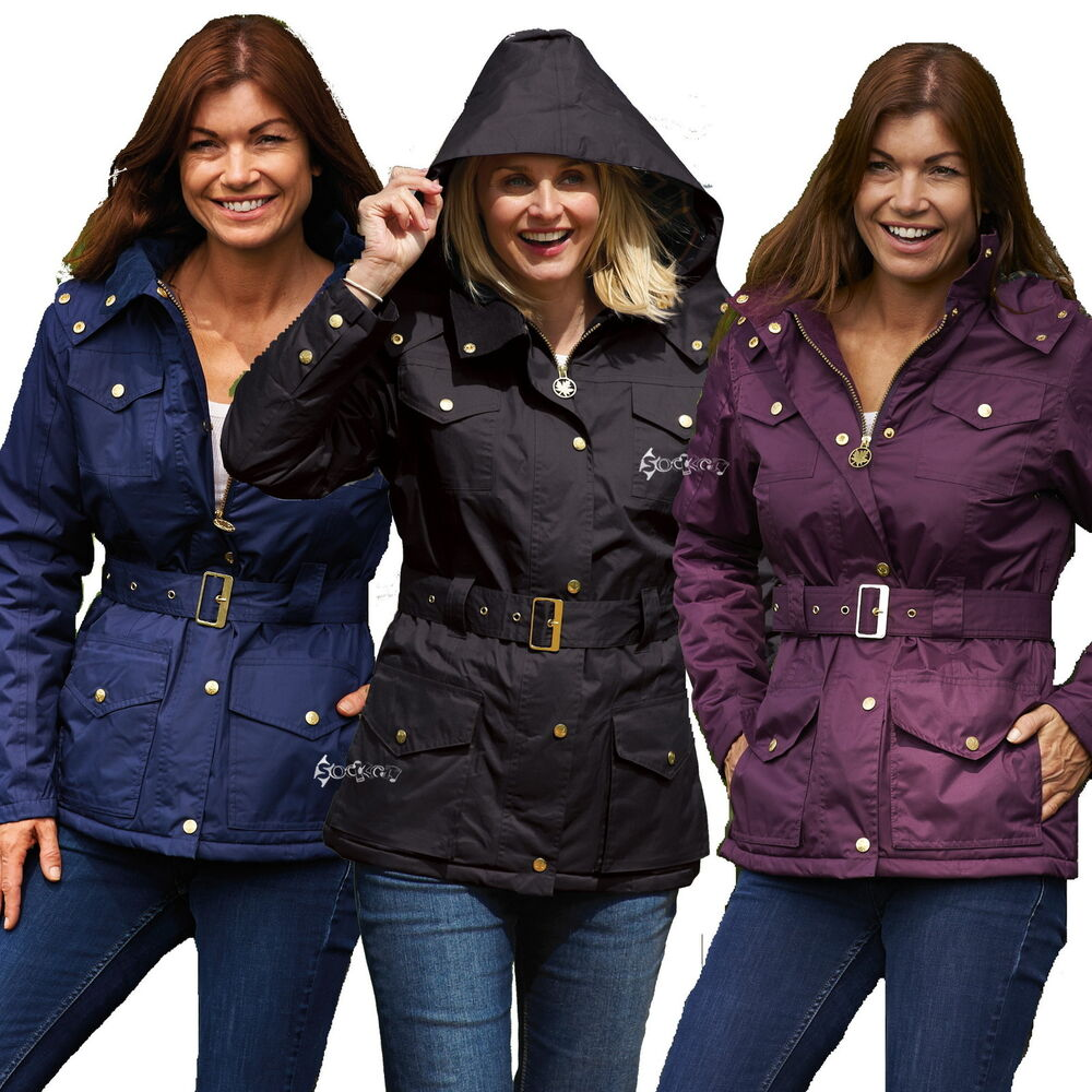 Ladies Champion Country Estate Windsor Waterproof Fabric Lined Riding Coat