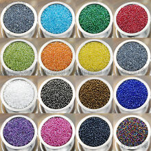 2000Pcs 2mm Czech Glass Seed Spacer Beads Jewelry Making DIY Pick More Color