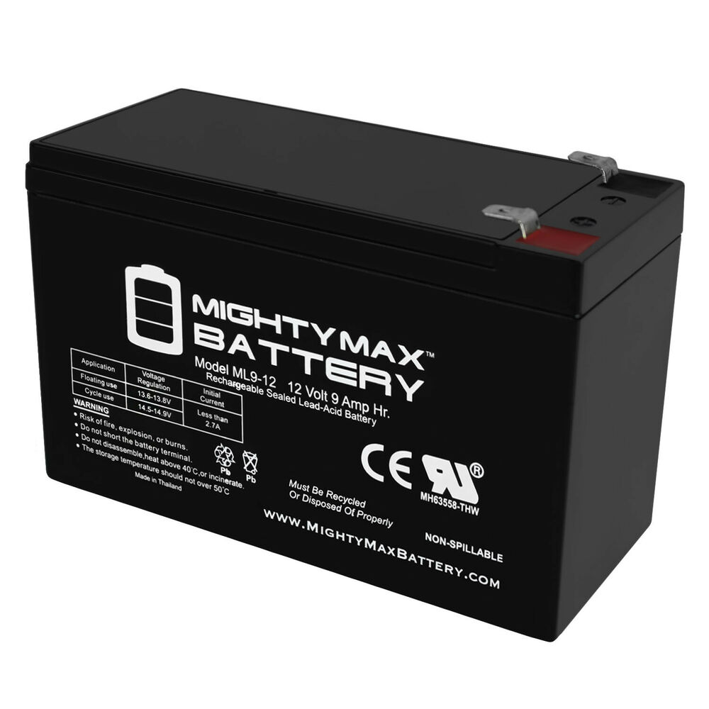 Mighty Max 12v 9ah Sealed Lead Acid Battery For Electric