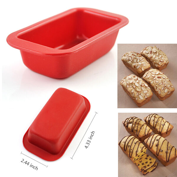 Silicone bread loaf mold cake non stick bakeware baking pan oven mould - 2 44 4 33 Inch Silicone Bakeware Mould Mini Loaf Pan Bread