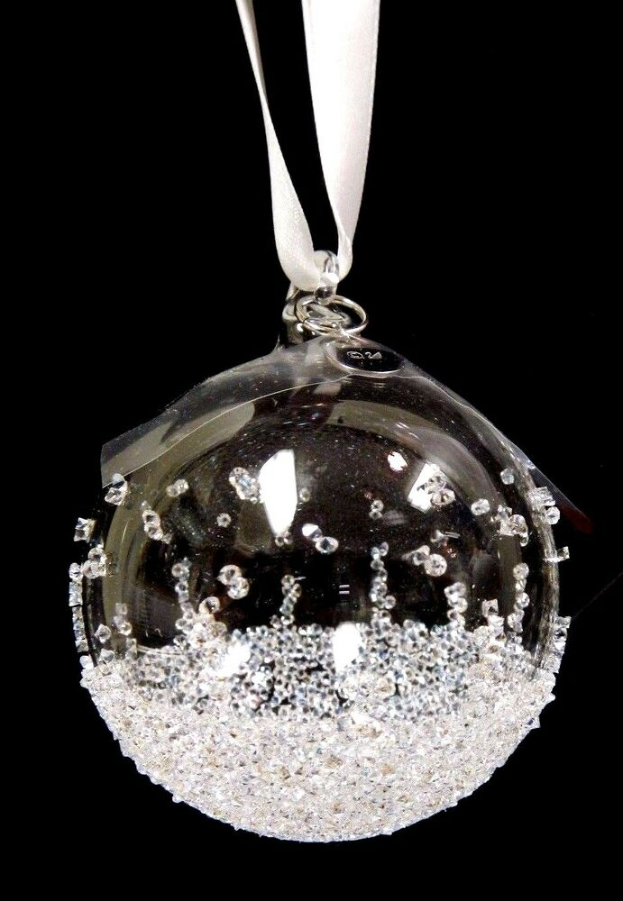 Christmas ball ornament small xmas crystal swarovski