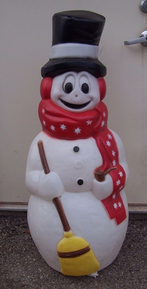S snowman blow mold outdoor yard lawn christmas decor ...