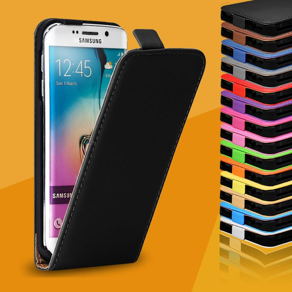 handy tasche f r samsung galaxy flip case cover schutz h lle klapp etui schale ebay. Black Bedroom Furniture Sets. Home Design Ideas