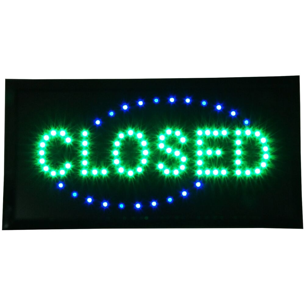 """Shop Open Sign Lights: CLOSED Shop LED 19x10"""" Sign Bright Store Neon Bar Close"""