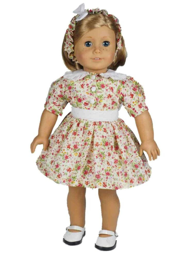 """Doll Clothes Patterns By Valspierssews Review Of American: 18"""" Doll Clothing 1930's Style Cotton Dress Fits American"""