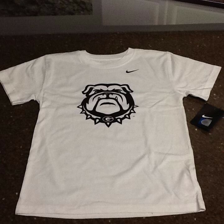 georgia bulldog t shirts georgia bulldogs youth t shirt white with black bulldog 7257