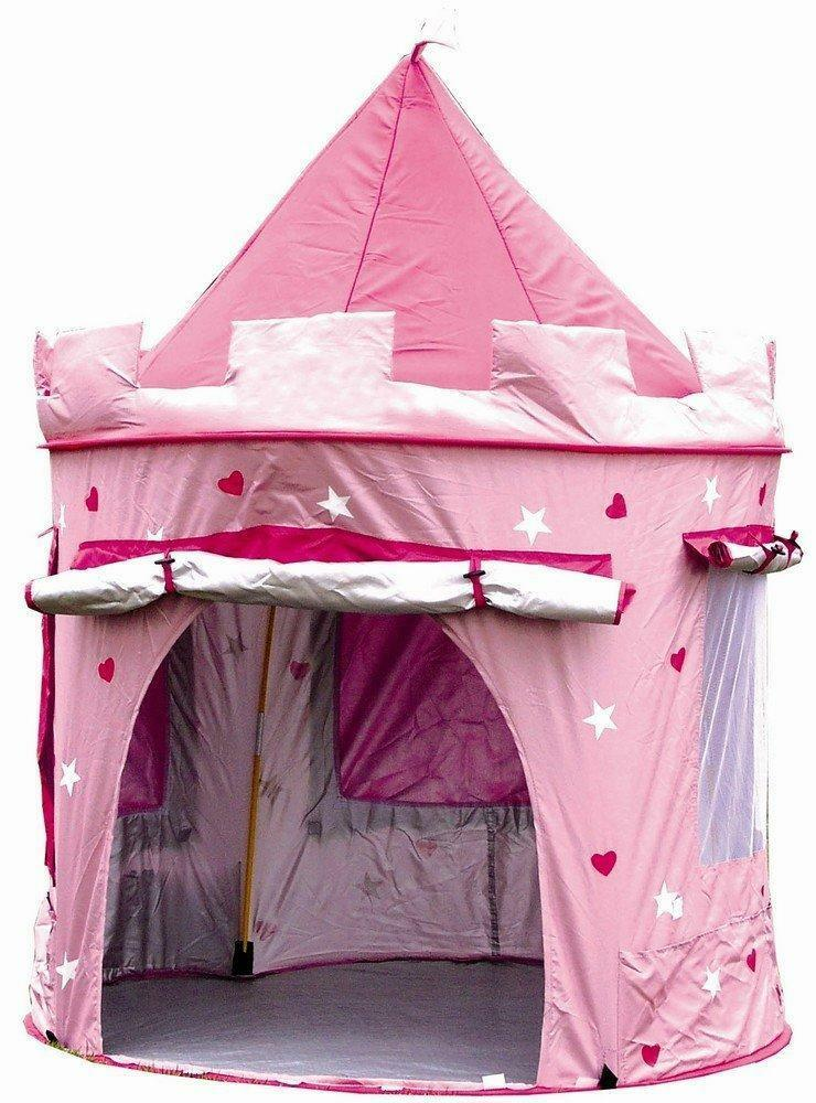 childrens kid pink pop up castle play tent play house. Black Bedroom Furniture Sets. Home Design Ideas