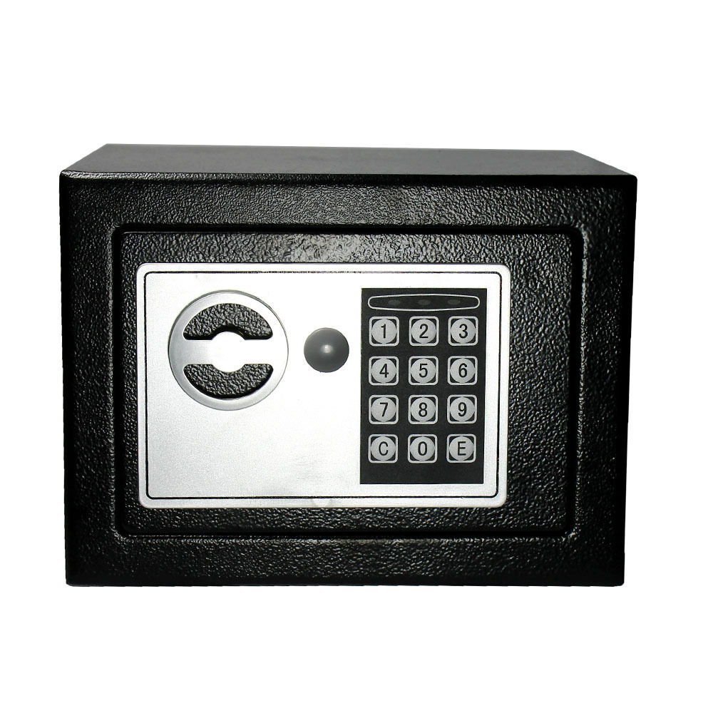 Digital Electronic Safe Small Black Box Combo Keypad Lock