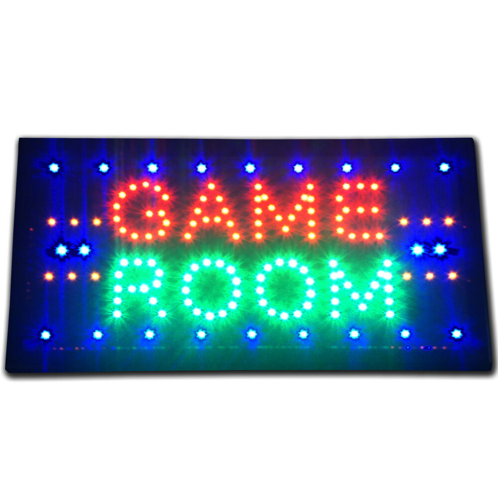 19x10 game room arcade led store business sign lottery for Room decor neon signs