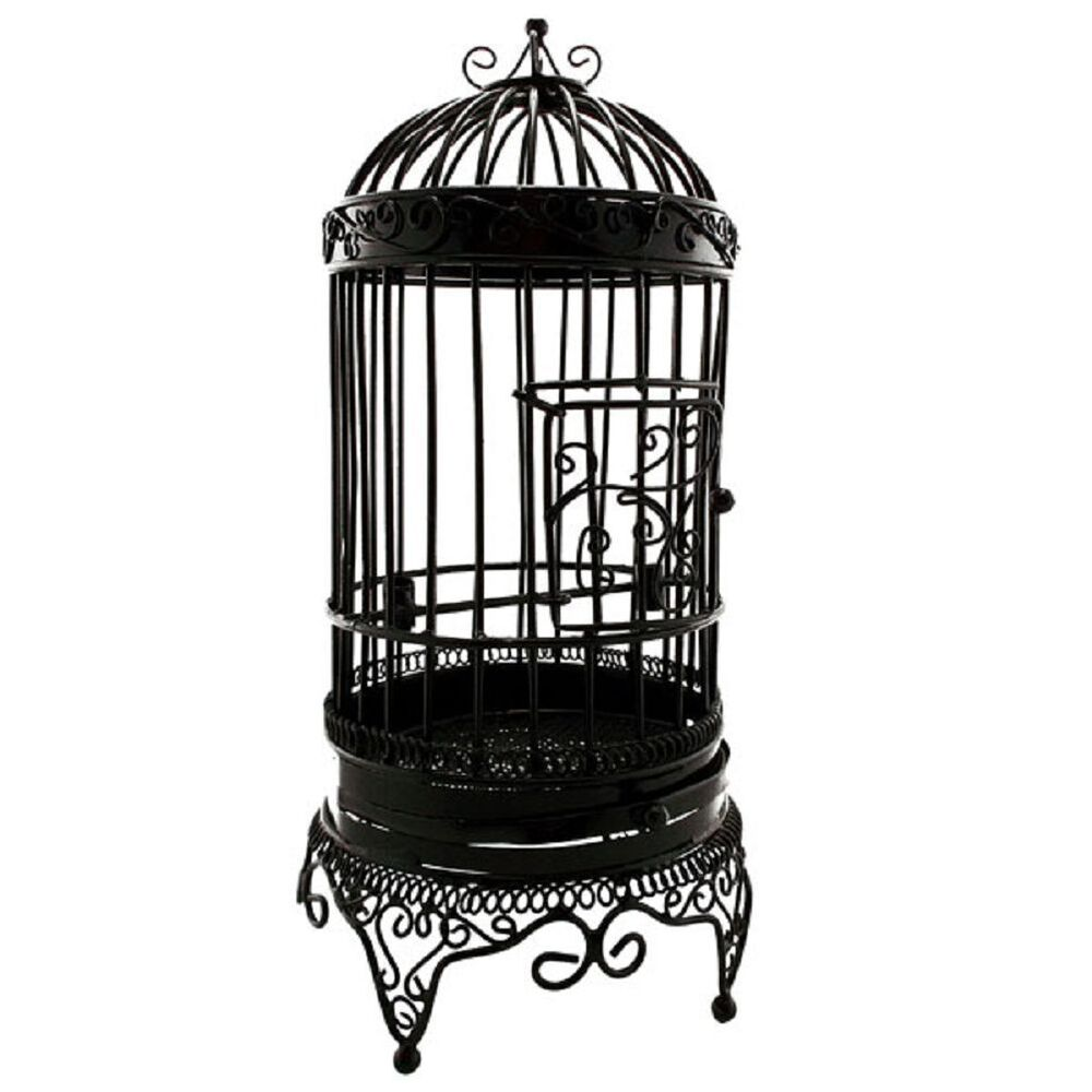 Black Metal Wire Open Birdcage Bird's Cage Jewelry Display