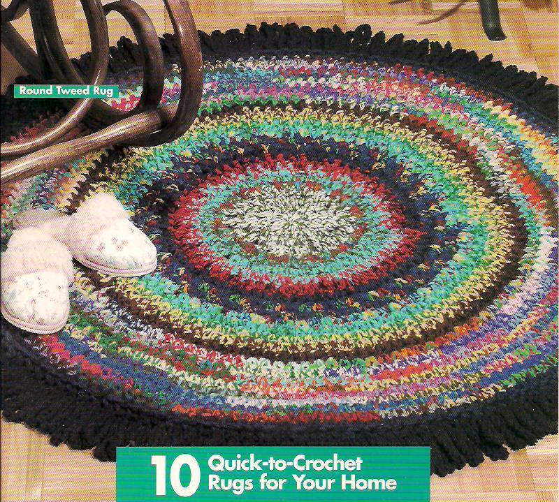 SCRAP YARN RUGS crochet rag rug patterns, instructions for many ...