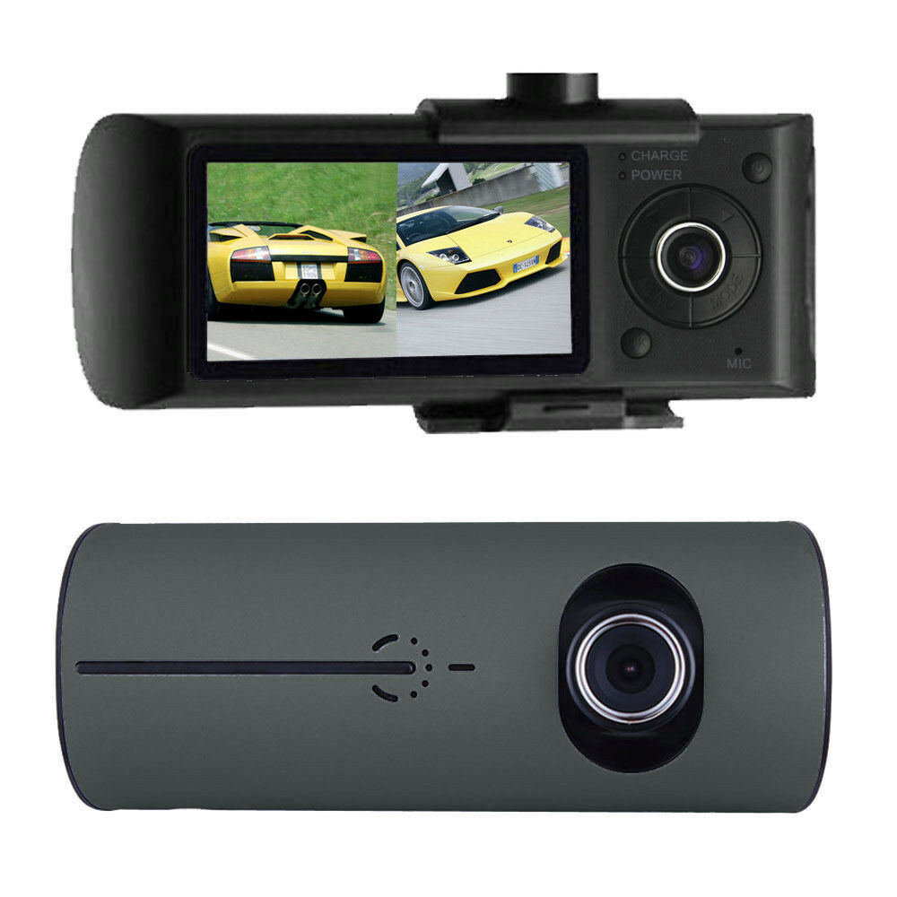 2 7 1080p full hd car dvr dual lens camera video recorder dash cam g sensor gps ebay. Black Bedroom Furniture Sets. Home Design Ideas