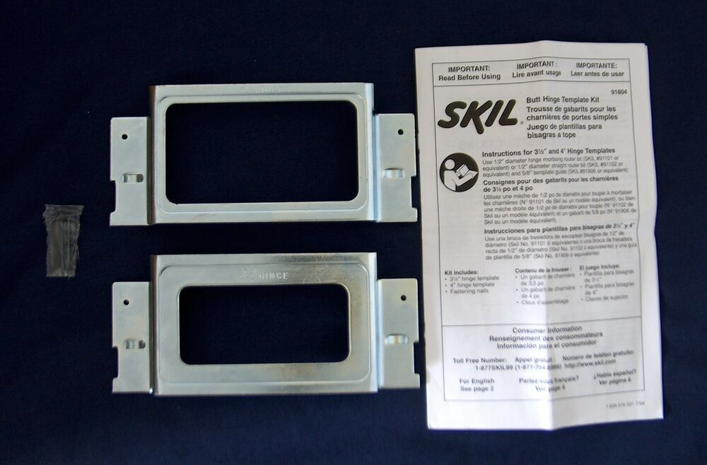 Skil Door Hinge Jamb Installation Templates Mortising Kit