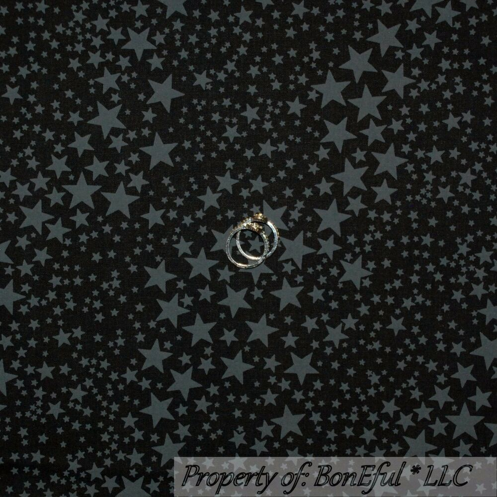 Boneful fabric fq cotton quilt black gray halloween little for Night sky material