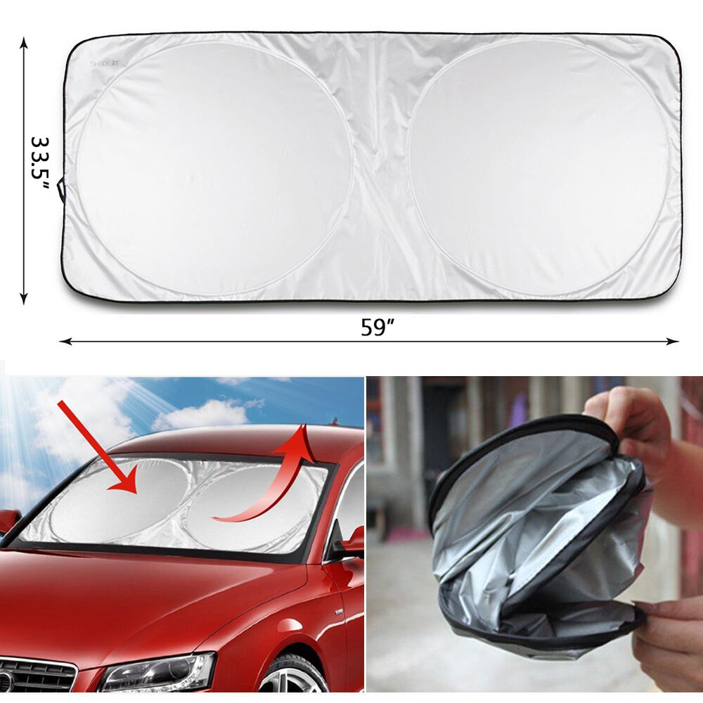 jumbo car suv windshield sunshade folding front window shield visor uv protector ebay. Black Bedroom Furniture Sets. Home Design Ideas