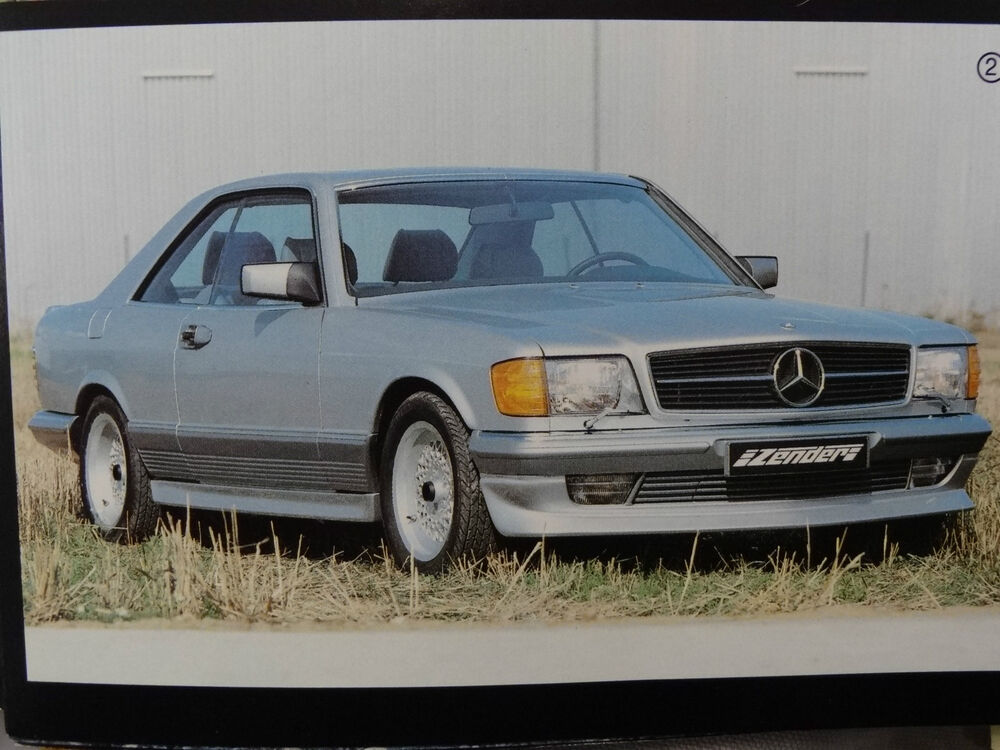 mercedes w126 coupe s class sec genuine zender side skirts with jack tool to86 ebay. Black Bedroom Furniture Sets. Home Design Ideas