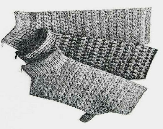 VINTAGE DK KNITTING PATTERN FOR TWEED DOG COAT IN 3 SIZES ...