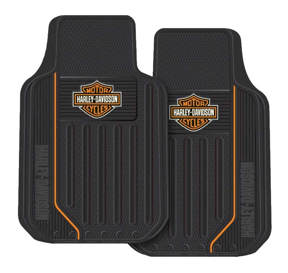 harley davidson motorcycle floor mats rubber car truck ...