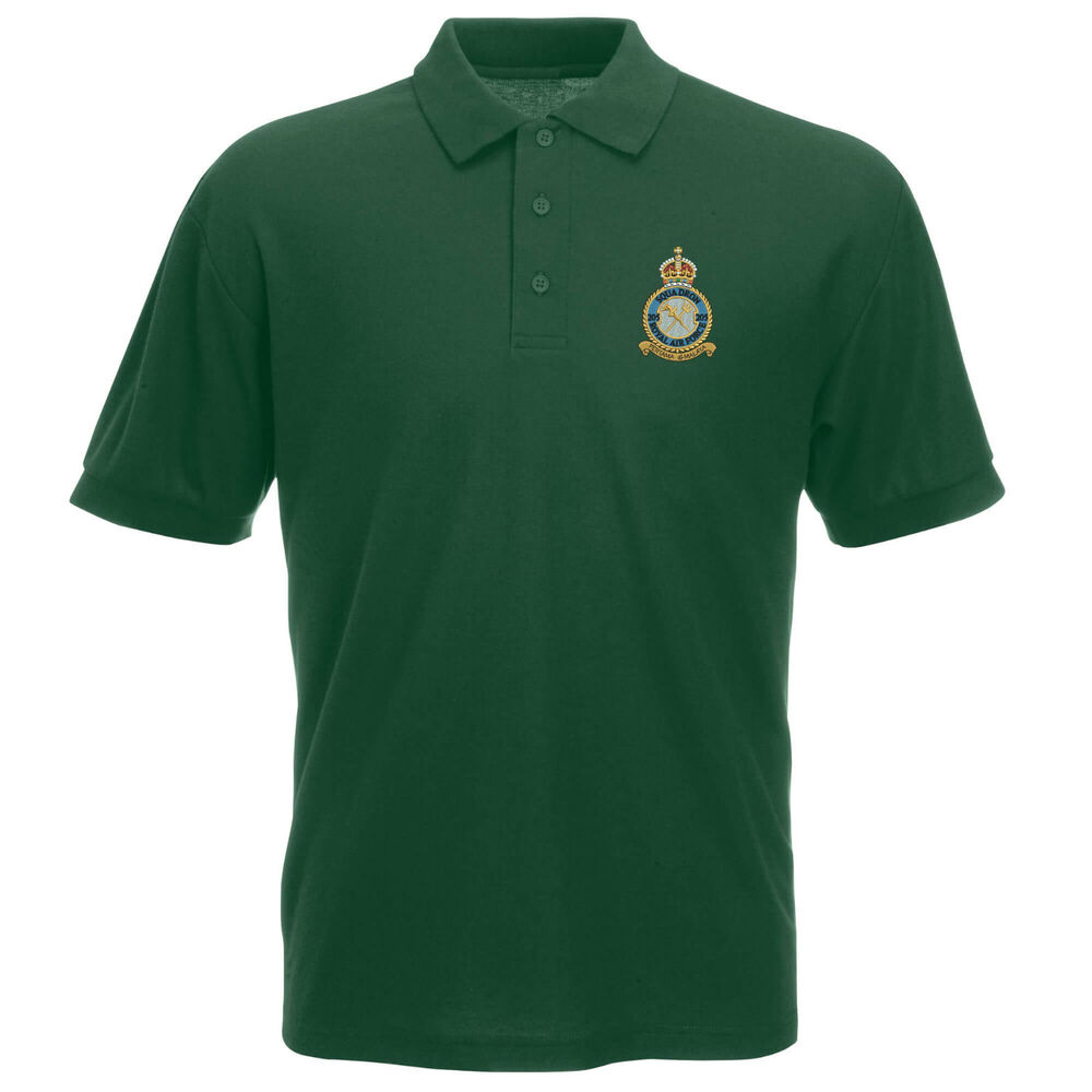 2b15cd301bc Details about 205 Squadron Royal Air Force Polo Shirt
