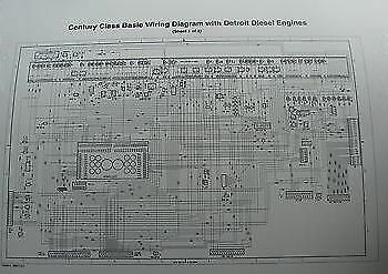 2000     Up Freightliner Century Columbia    Wiring       Diagram       Schematic    w Detroit D   eBay