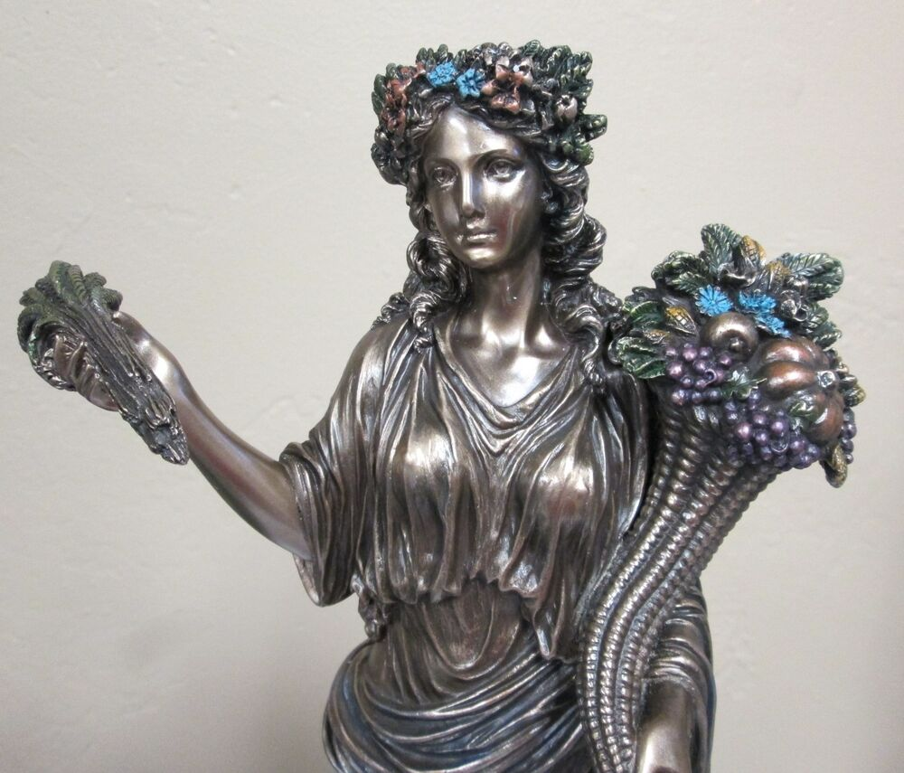 Demeter Ceres Statue Greek Harvest Goddess with Sheafs of ...