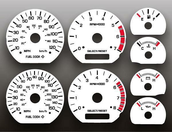 1999-2004 Ford Mustang 35th Anniversary Instrument Cluster White Face Gauges | eBay
