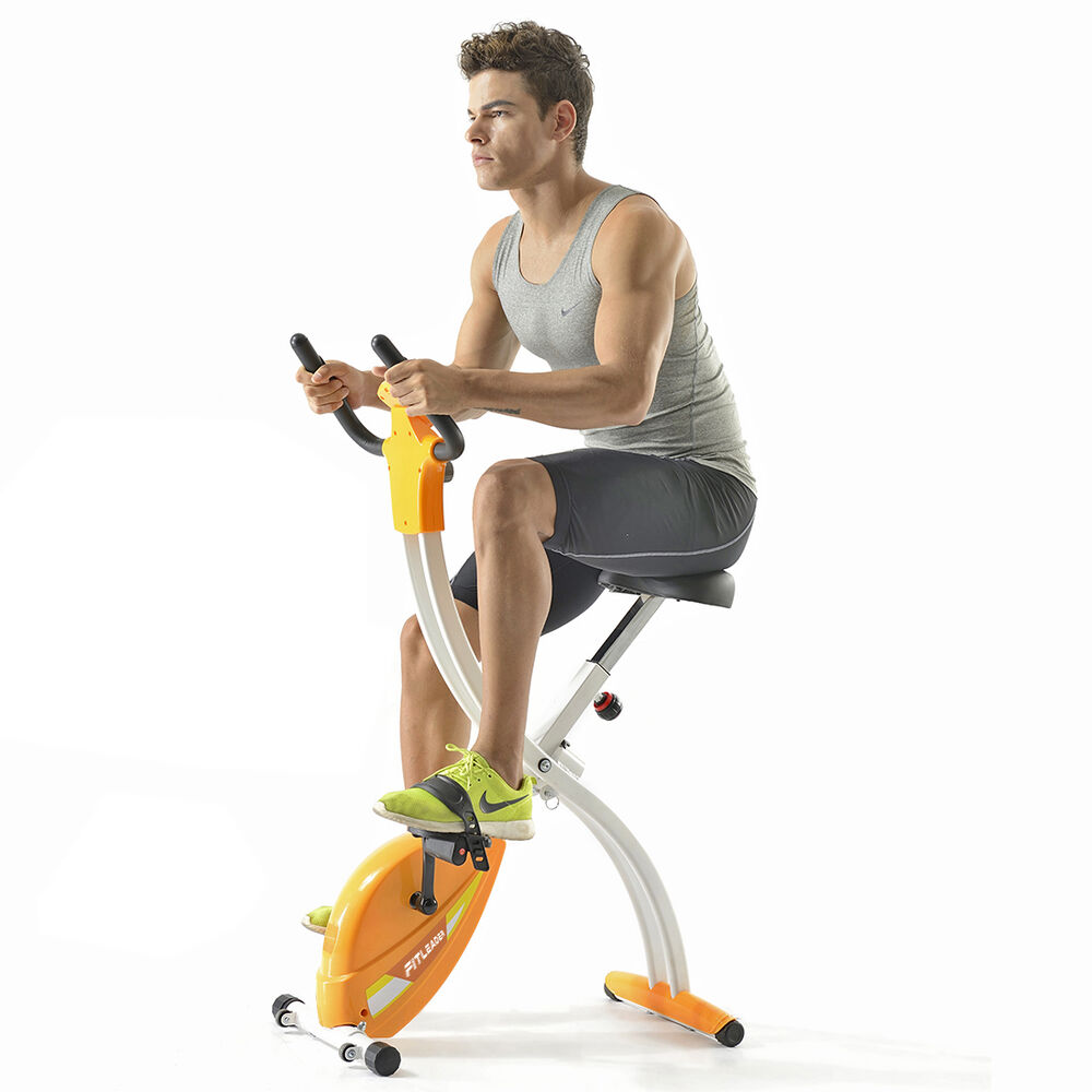 Fitleader Indoor Exercise Bike Upright Home Cycling Gym