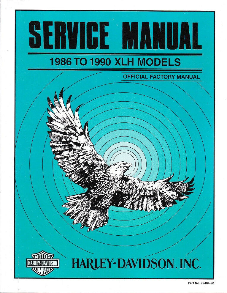 1986-1990 Harley Sportster Service Repair Workshop Manual Book Guide ...