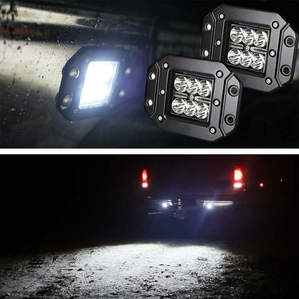 2 Dually Flush Mount 24w Cree Led Pod Lights For Truck