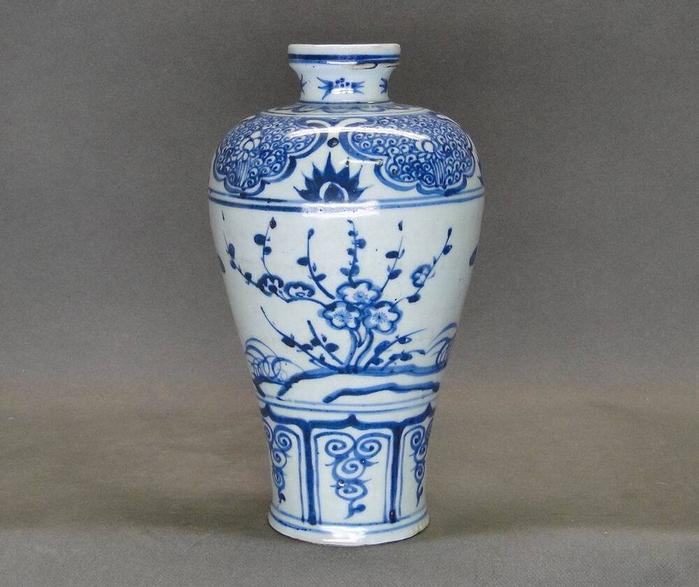 chinese ming dynasty blue and white meiping vase ebay