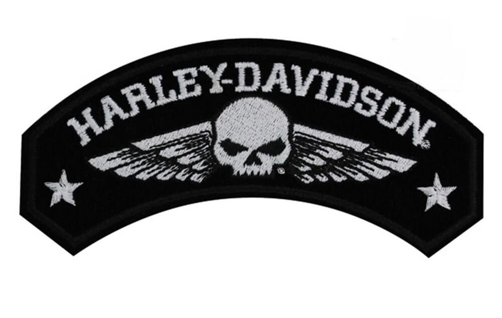 harley davidson military wings rocker patch with willie g. Black Bedroom Furniture Sets. Home Design Ideas