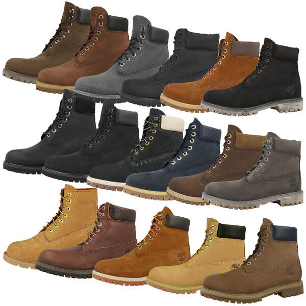 timberland 6 inch premium boots anniversary herren schuhe stiefel diverse farben ebay. Black Bedroom Furniture Sets. Home Design Ideas