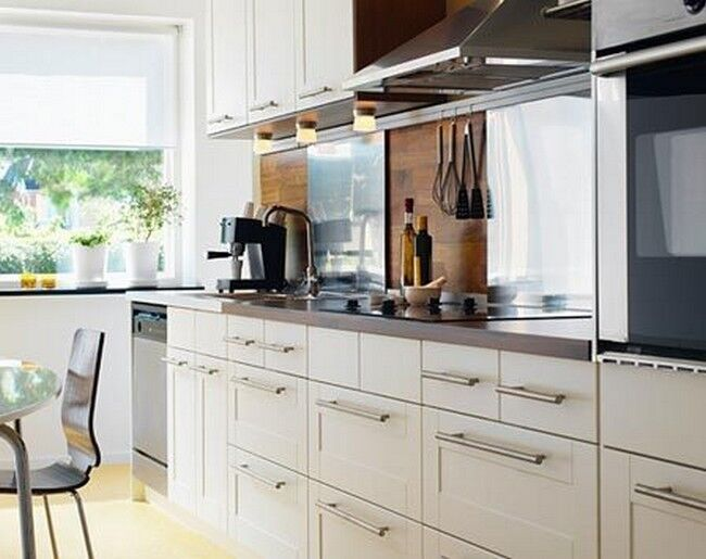 Ikea adel white kitchen cabinet door various sizes ebay for Kitchen cabinets ebay